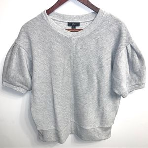J. Crew Terry Cotton Puff sleeve pullover Tee